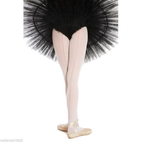 SILKY BALLET DANCE TIGHTS with Back Seam Seamed Seamer Full Foot Pink Ladies
